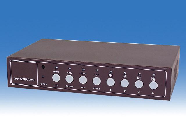 音声・モーション感知機能付きカラー4分割器