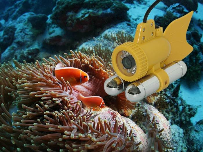 水中監視カメラ 25万画素完全防水カメラ