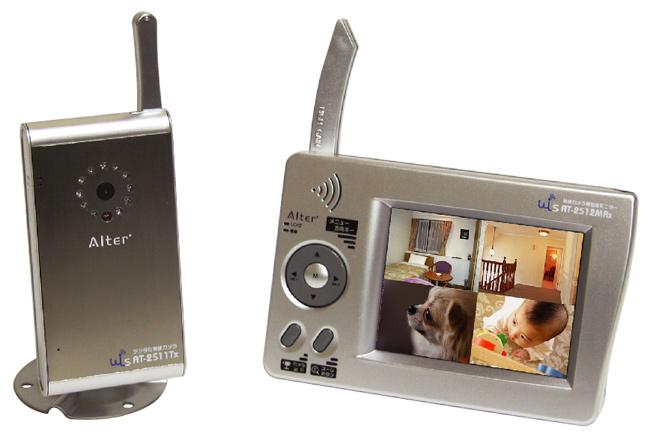 デジタル2.4GHz帯 無線カメラ&モニター【AT-2510MCS】