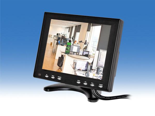 8インチ防犯監視カメラ用小型モニター
