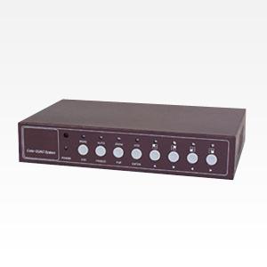 音声・モーション感知機能付きカラー高性能4分割器